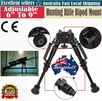 "Adjustable 6""to 9"" Height Sniper Hunting Rifle Bipod Sling Swivel Mount Holder"