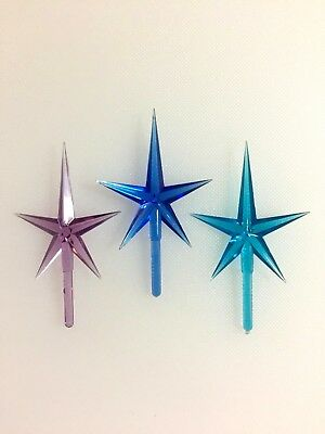 Ceramic Christmas Tree MEDIUM STAR TOPPERS Replacement BLUE GREEN AQUA