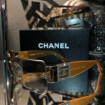 34e198ca08c816 Vintage Chanel Sunglasses 4095-B Gold Eyeglasses Frames VERY RARE! SOLD OUT!