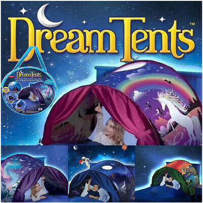 Deluxe Kids Dream Bed Tent Pop-up Foldable Indoor Playhouse Wonderland Gift UK