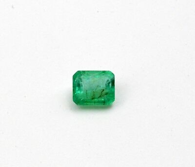 0.80 Ct Natural Emerald Loose Gemstone Octagon Cut Transparent No Heat