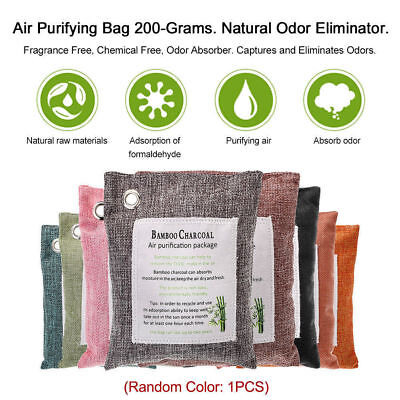 Air Purifying Bag 100% Activated Bamboo Charcoal Carbon Odor Purifier Freshen UK
