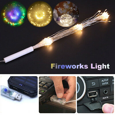 USB  Firework 100-180LED Copper Fairy Wire String Lights Christmas Holiday Decor