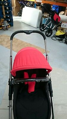 iCandy strawberry Pushchair with Chrome Chassis & red hood Hood