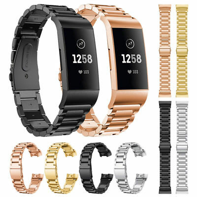 Armband Für Fitbit Charge 3 Charge 3 SE Solid Edelstahl Metall Ersatzarmband