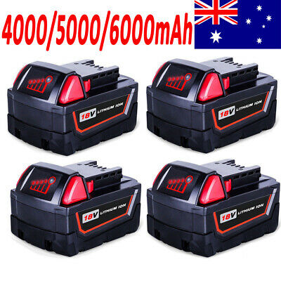 6.0AH 5.0AH 4.0AH 18V Battery For Milwaukee M18 M18B4 48-11-1828 Red Lithium Ion