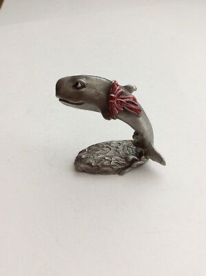 Vintage Gallo  E. Vincent Pewter Figurine Peppermint Pals Whale