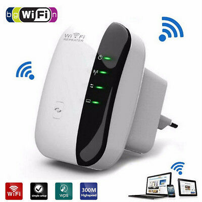 Wireless Wifi Repeater AP Router WLAN LAN 802.11n Network Signal Booster 300Mbps