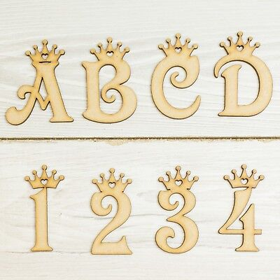 Wooden Letters Princess Crown MDF Letters Gift Decor Kids Craft Personalise Name