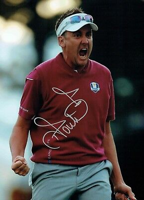 Ian POULTER SIGNED Autograph Ryder Cup Golf WINNER 16x12 Photo 1 AFTAL COA