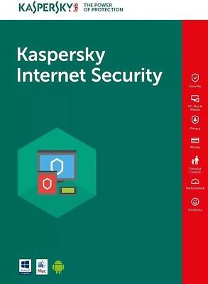 Kaspersky Antivirus Internet Security 2019 Key ESD - Instantaneo