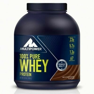 MULTIPOWER 100% Pure Whey Proteine 2000 g 2kg Siero latte e isolate + SHAKER