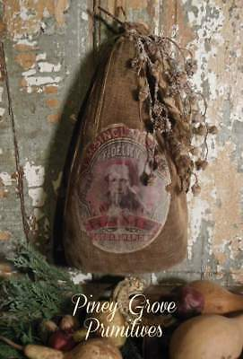 Primitive Style Country Christmas Ham Faux Hand Made Prop Sinclair & Co.