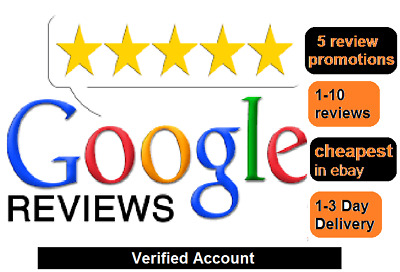 5 pcs - review FIVE 5 Star Google Reviews for business SATISFACTION GUARANTEED