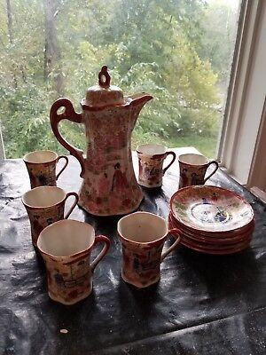 Japanese china Chocolate Pot set Vi