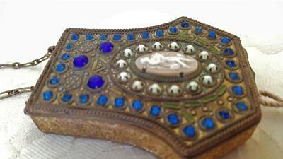 Antique French Jeweled Compact Dance Purse