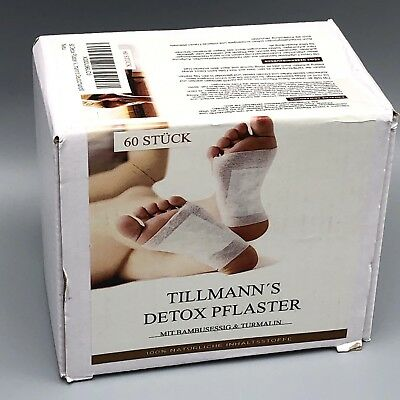 60 Detox Pflaster Vitalpflaster Pads Fusspflaster zur Wellness Entgiftung /RR-O3