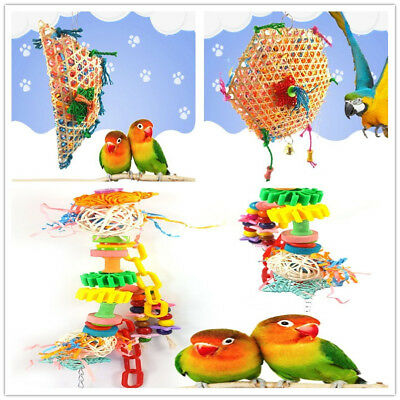 Pet Bird Parrot Swing Cage Toy Foraging Toys Chew Bites for Parakeet 3 Typ-Smtp
