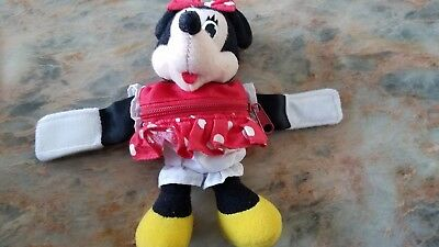 Disney Minnie Mouse  Plush Keychain/Coin Purse-Red