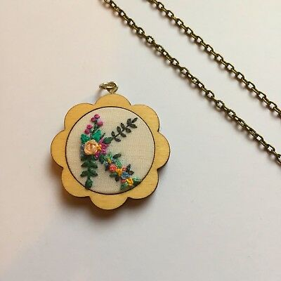 36mm Mini Embroidery Hoop Necklace Kit