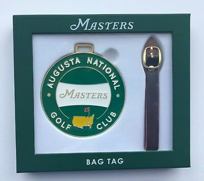 2019 Masters golf bag tag augusta national course tiger woods pga new