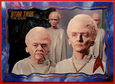 "STAR TREK TOS 50th Anniversary - ""THE CAGE"" - GOLD FOIL Chase Card #17"