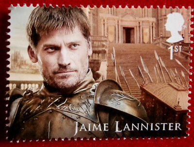 Game of Thrones: JAIME LANNISTER - FIRST CLASS ROYAL MAIL STAMP - MINT