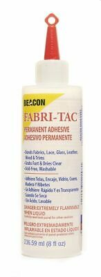 Fabri-Tac 236ml/ 8oz Large Bottle - Clear Adhesive - Fabric Glue Woods Washable