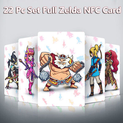 22PCS NFC AMIBO CARD Tag ZELDA BREATH OF THE WILD WOLF LINK For Switch Wii U