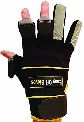 Unisex Black Fingerless Gloves - Gardening Work Shooting Photography Fishing DIY