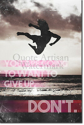 "Karate Motivational Poster 02 ""DON'T give up..."" Art Print Motivation Quote"