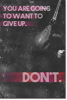 "Boxing Motivational Poster 03 ""DON'T give up..."" Art Print Motivation Quote"
