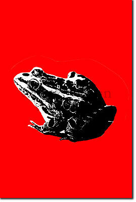 "FROG ""REDJECT"" - Art Print Poster Gift Retro - Toad"