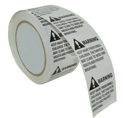1000 Label 2 x 2 Suffocation Warning Amazon FBA approved Labels/Stickers 2 Rolls