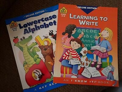 School Zone Learning To Write & Lowercase Alphabet (Ages 4-6) Books Collection