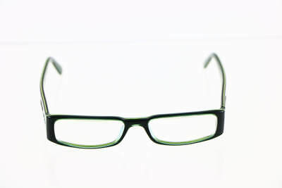 Prada Green Slim Rectangular Lens Glasses VPR 10F