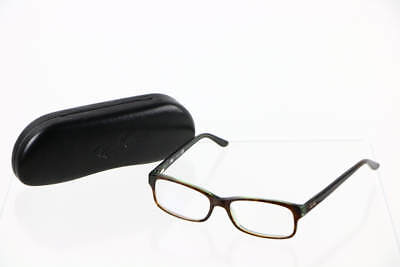 Ray Ban Brown Tortoise Slim Rectangular Lens Glasses RB5187