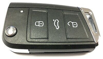Replacement 3 button flip key case for VW Volkswagen Golf MK7 remote 2012 +