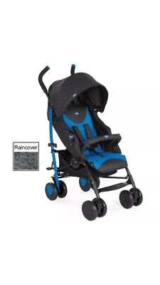 Chicco Echo Stroller Baby Pushchair (Mr Blue) Includes Raincover