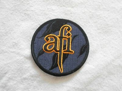 Orange AFI Fabric Material PATCH Embroidered MUSIC Merchandise 8cms MERCH