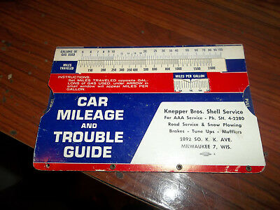 CAR MILEAGE GUIDE Gas & Oil Station