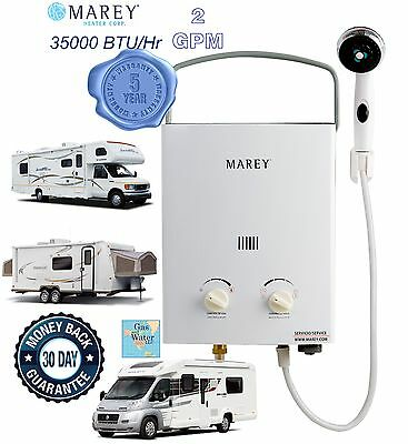 Portable Tankless Water Heater 2GPM RV's & Campers Propane Gas LPG REFGA5PORT