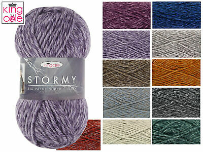 King Cole Big Value Super Chunky Stormy Acrylic Wool Yarn 100g - FREE POSTAGE