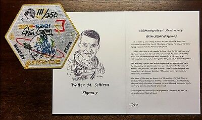 SIGMA 7 50 YRS WALLY SCHIRRA PATCH SIGNED BY TIM GAGNON # 111 of 250 & ART CARD