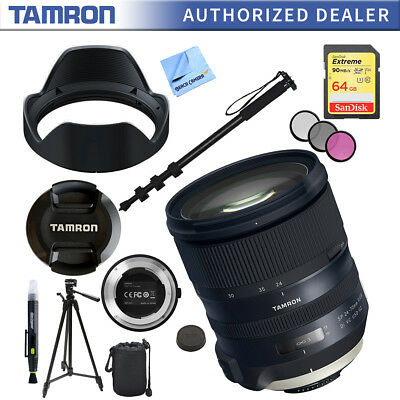 Tamron SP 24-70mm f/2.8 Di VC USD G2 Lens for Nikon Mount and 64GB Accessory Kit
