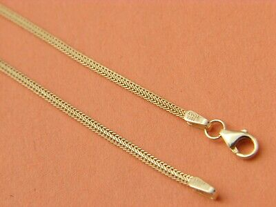 Solid 10k YELLOW GOLD foxtail  CHAIN NECKLACE REAL 10KT GOLD CHAIN