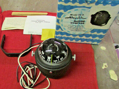 Vintage NOS Airguide Marine Compass model 88-B for boat ship yacht catamaran