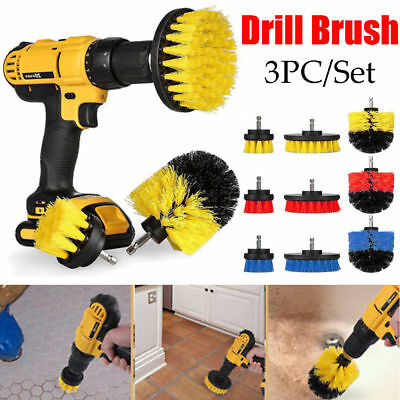 3x Tile Grout Power Scrubber Cleaning Drill Brush Tub Cleaner Combo Set 3 Colors