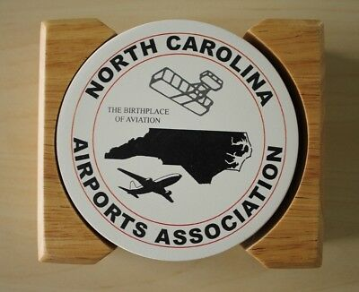 North Carolina Airports Association Set Of 4 Ceramic Drink Coasters