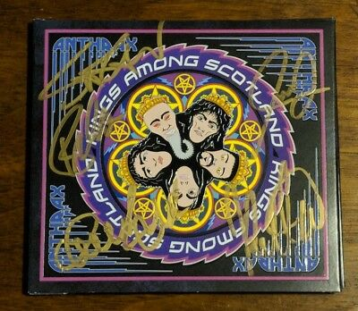 Anthrax - Signed Kings Among Scotland DVD by all 5